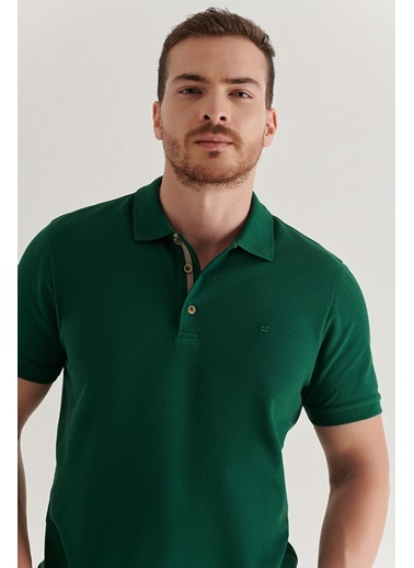 Avva Erkek  Polo Tişört A11B1174 Yeşil